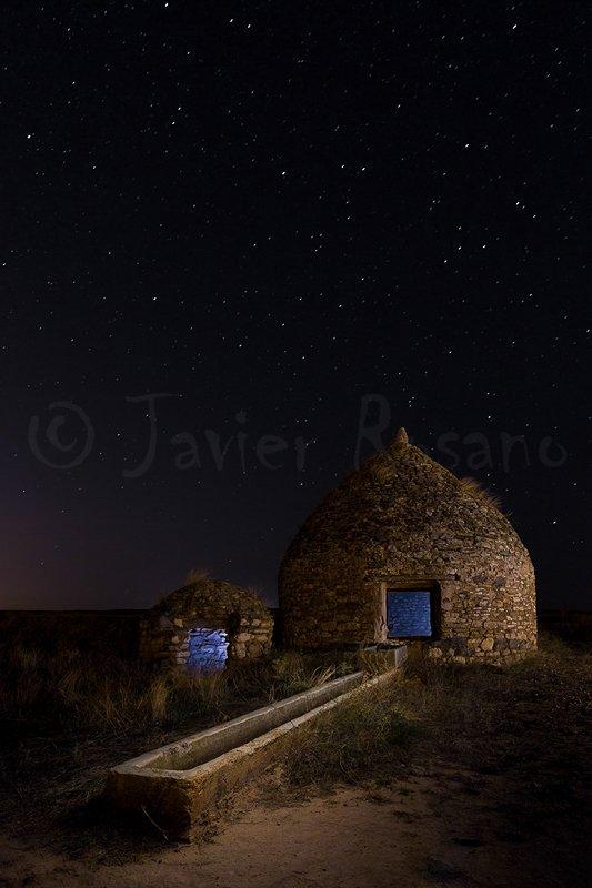 Fotografia nocturna. Aljibe. Iluminacion cenital.