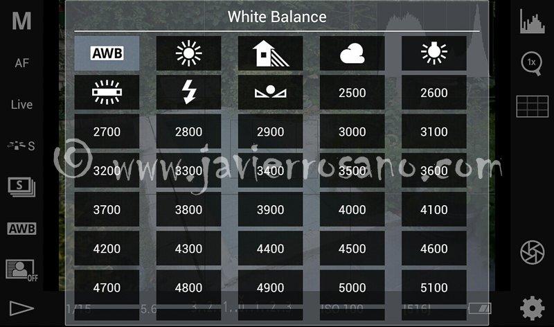 DSLR Controller. Balance de blancos