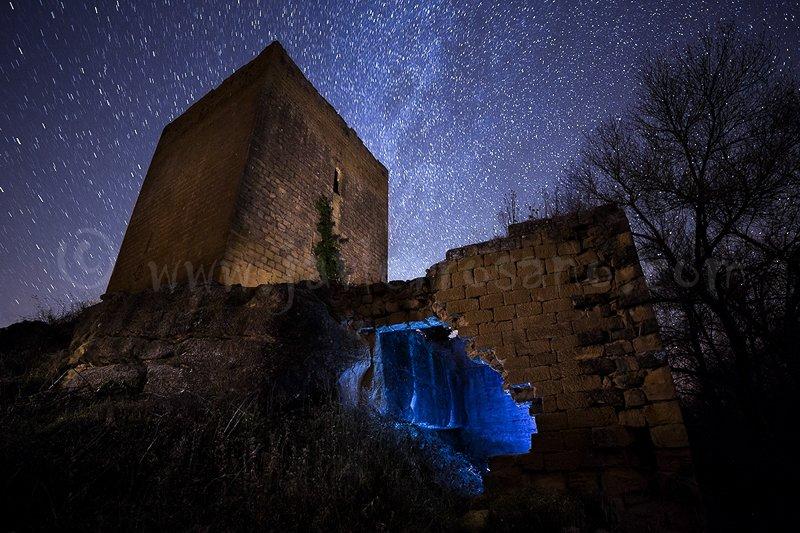 Fotografia nocturna. Castillo fortificado
