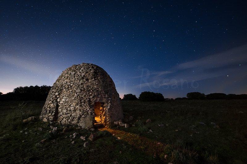 Fotografia nocturna. Refugio nocturno