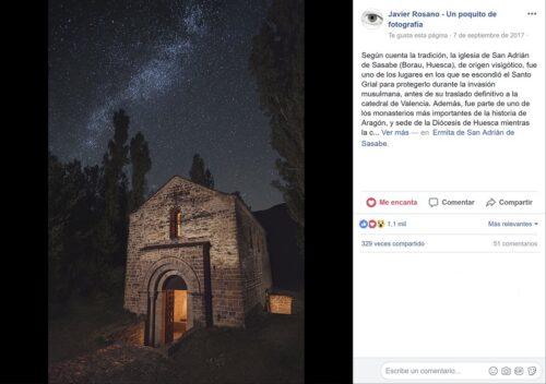 San Adrián de Sasabe. Fotografía nocturna viral