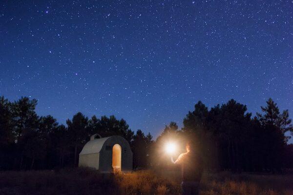 Buscando refugio. Fotografía nocturna
