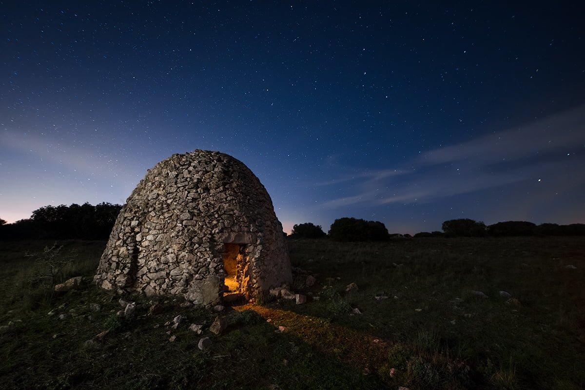 Refugio nocturno. Fotografía nocturna