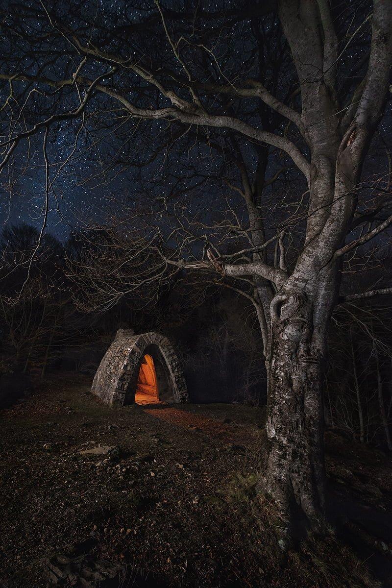 El refugio. Fotografía nocturna