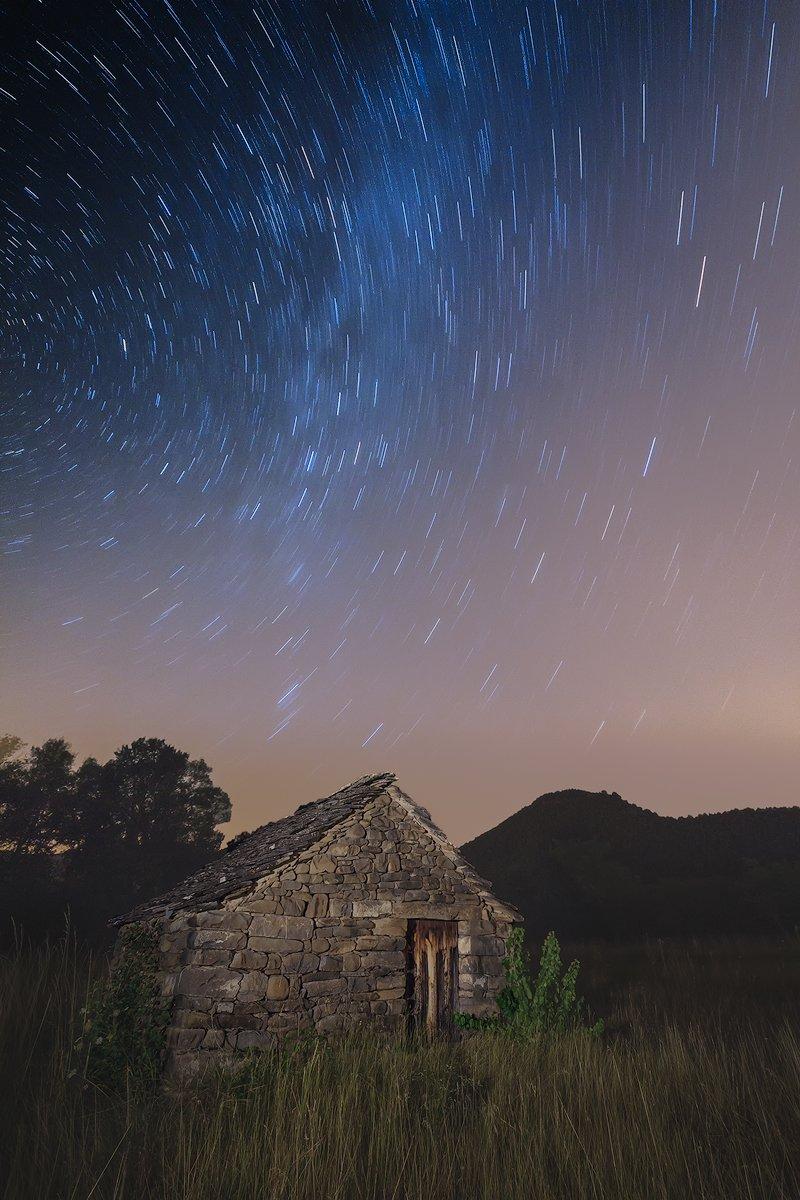 Caseta de Lavés. Fotografía nocturna