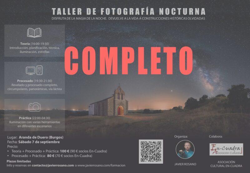 Taller de fotografía nocturna en Aranda de Duero, Burgos