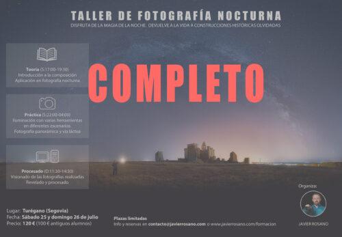 Taller de fotografía nocturna en Turégano, Segovia