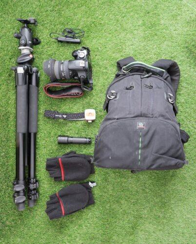 equipo básico para fotografía nocturna