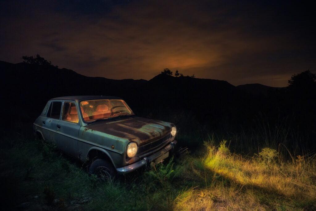 Fotografía nocturna de vehículos. Fotografía final